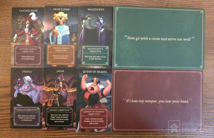 Villainous character boards
