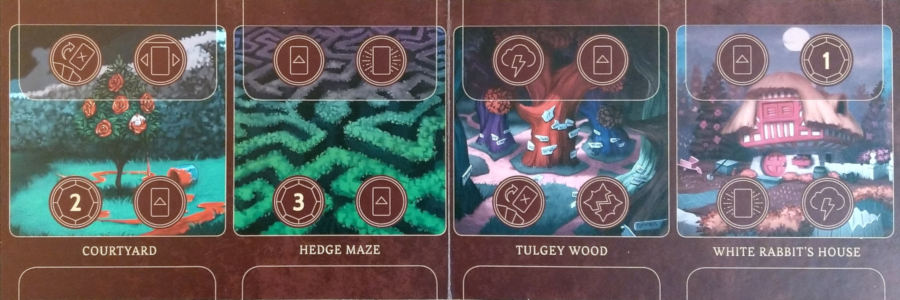 Locations on the Queen of Heart's realm board