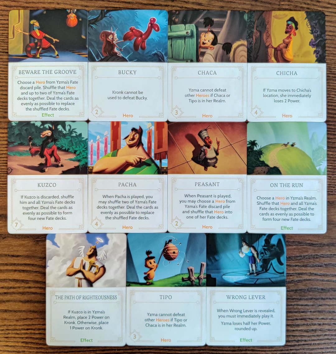 Yzma's Fate deck cards in Disney Villainous
