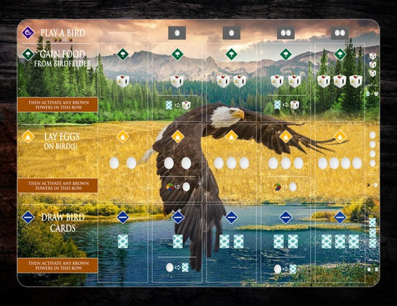 Wingspan player mat. Image credit: Lizard Den on Etsy.