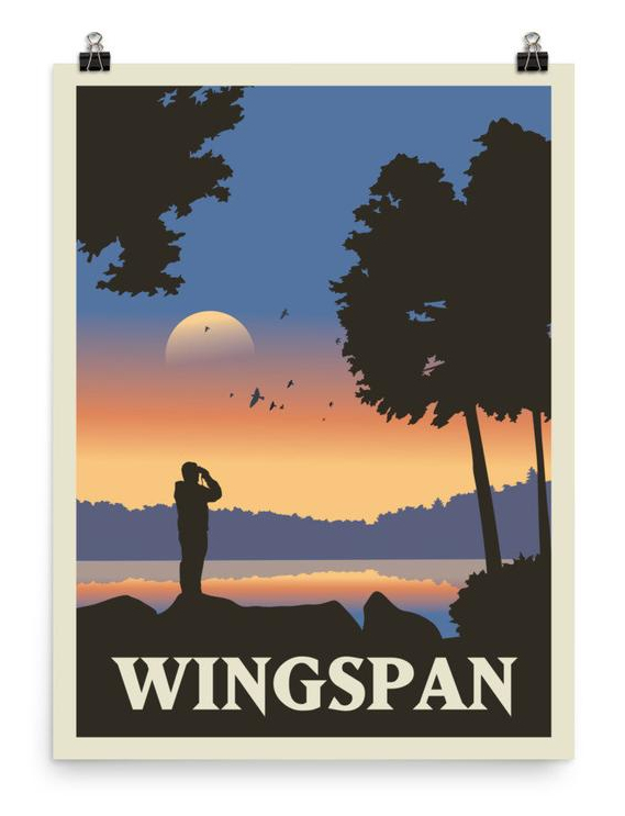 Wingspan poster. Image credit: Meeple Designs on Etsy.