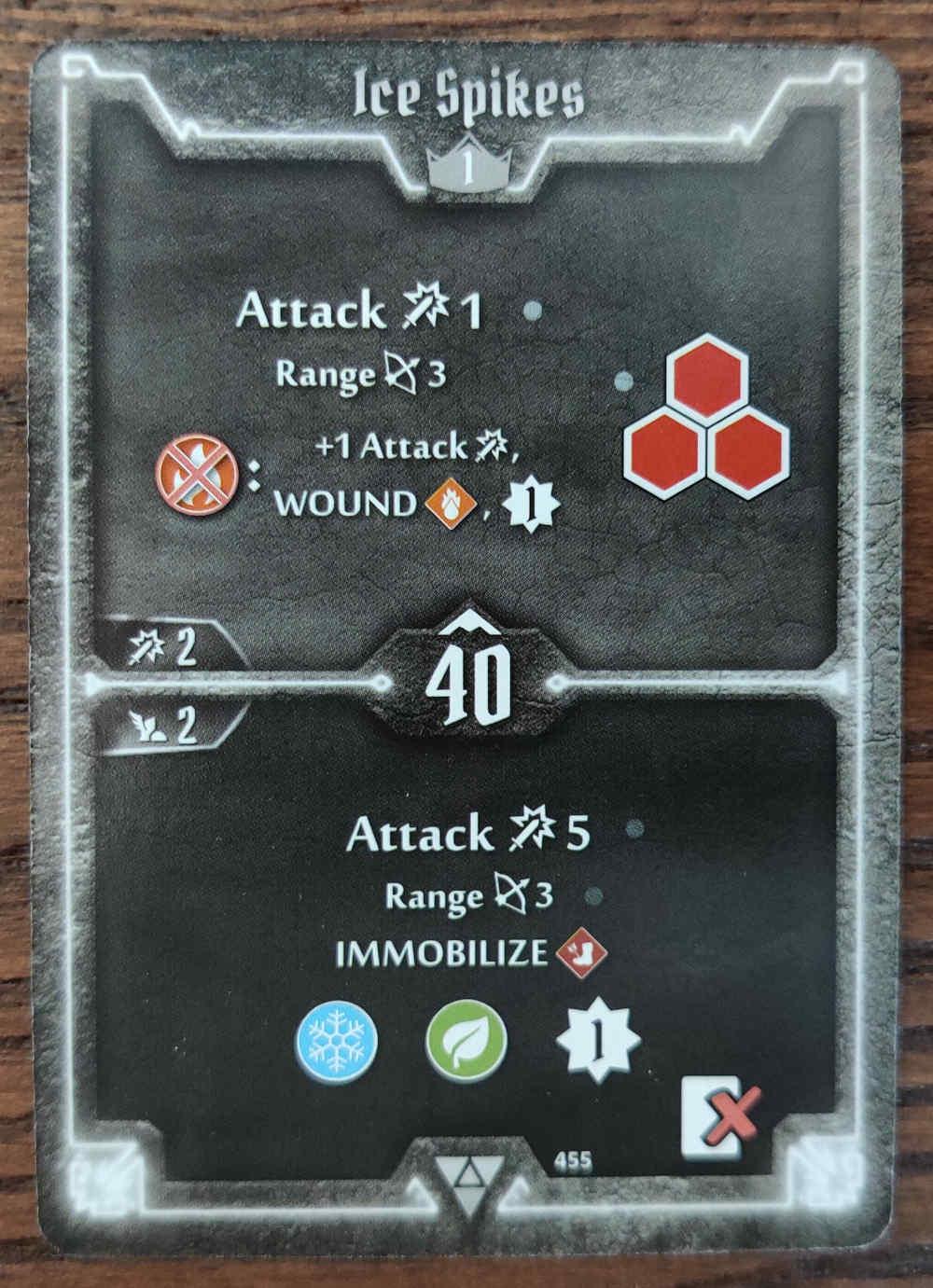 Elementalist Ice Spikes card