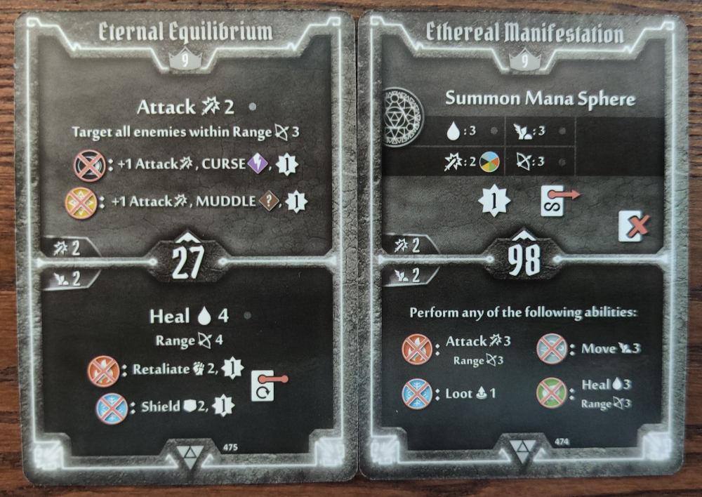 Elementalist level 9 cards - Eternal Equilibrium and Ethereal Manifestation