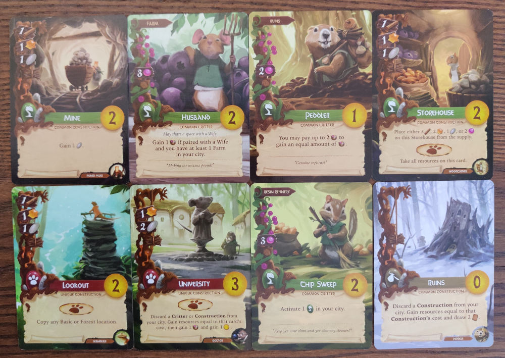 Everdell pebble generating cards