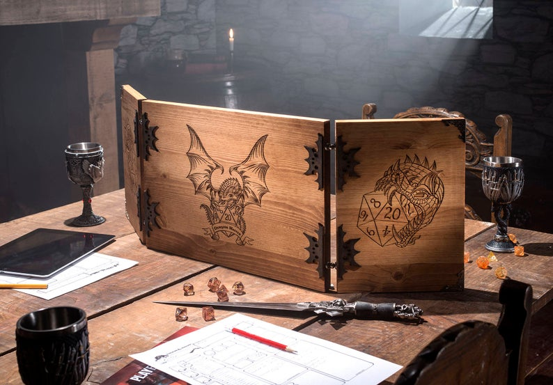 Dungeon Master Screen - Image Credit: Crit It on Etsy