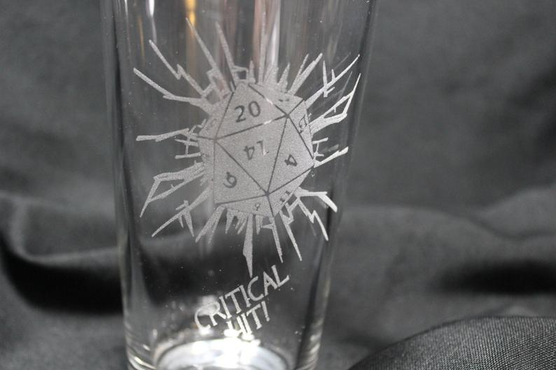 Critical Hit glass. Image credit: Etchin Good Times on Etsy.