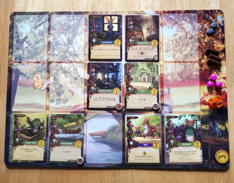 Everdell game mat. Image credit: LizardDen on Etsy.