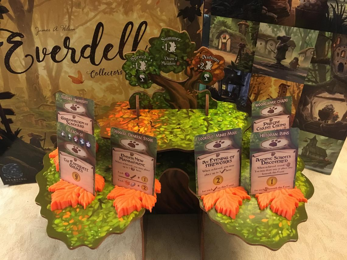 Everdell Special Event card holders. Image credit: Laser Land on Etsy.