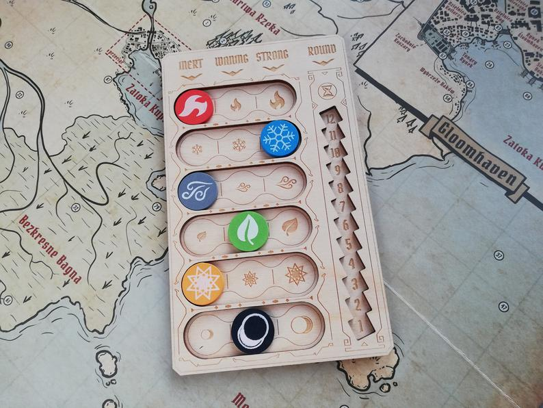 Gloomhaven element tracker. Image credit: Radvoy on Etsy.