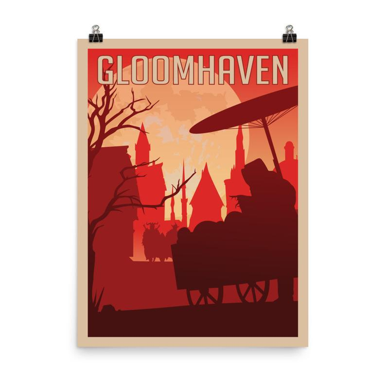 Gloomhaven poster. Image credit: Meeple Designs on Etsy.