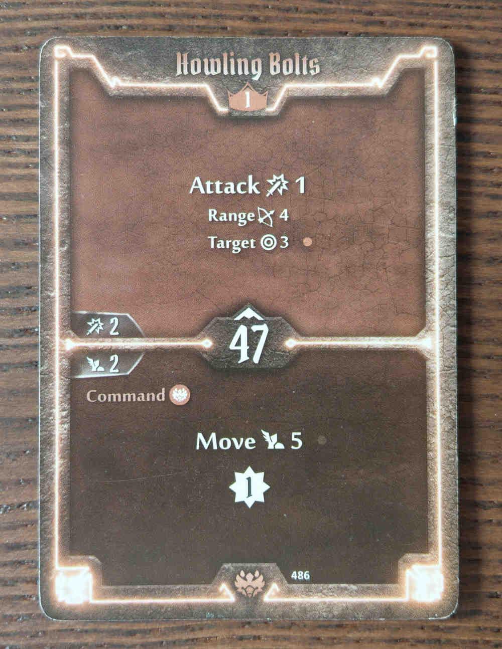 Beast Tyrant card Howling Bolts