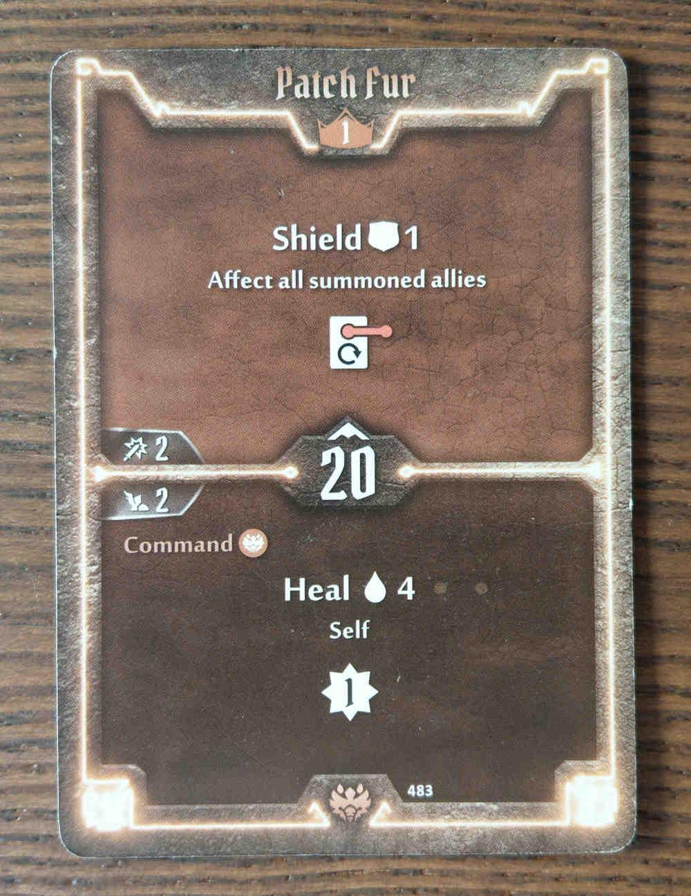 Beast Tyrant card Patch Fur