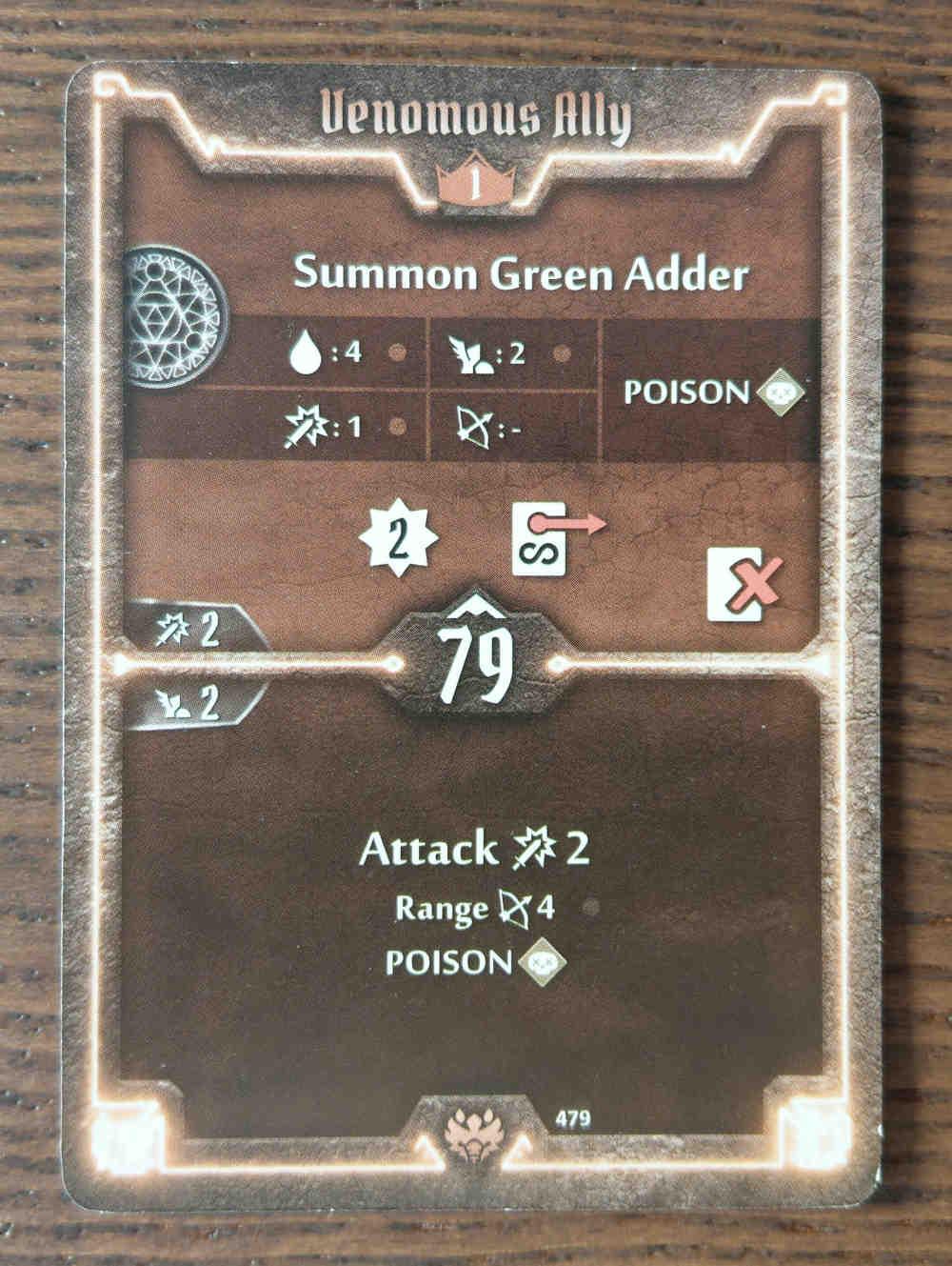 Beast Tyrant card Venomous Ally