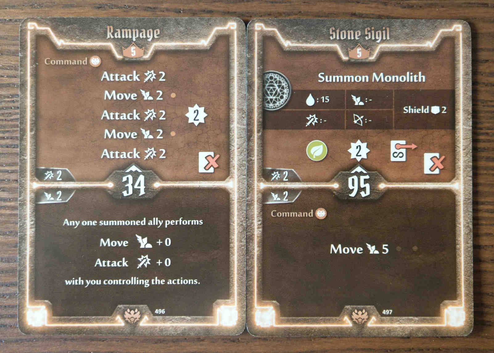 Beast Tyrant level 5 cards - Rampage and Stone Sigil