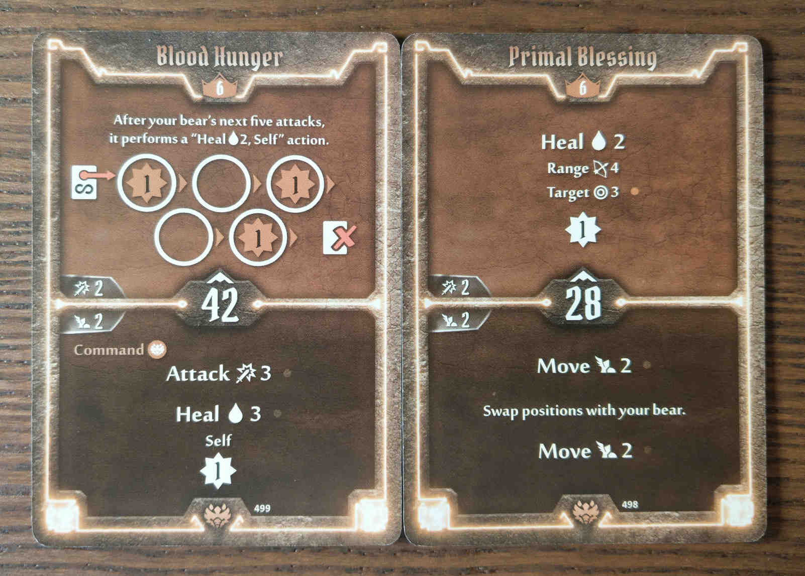 Beast Tyrant level 6 cards - Blood Hunger and Primal Blessing