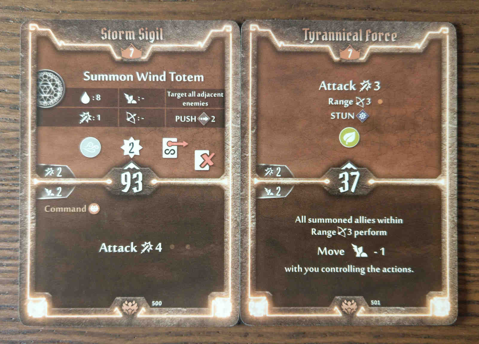 Beast Tyrant level 7 cards - Storm Sigil and Tyrannical Force