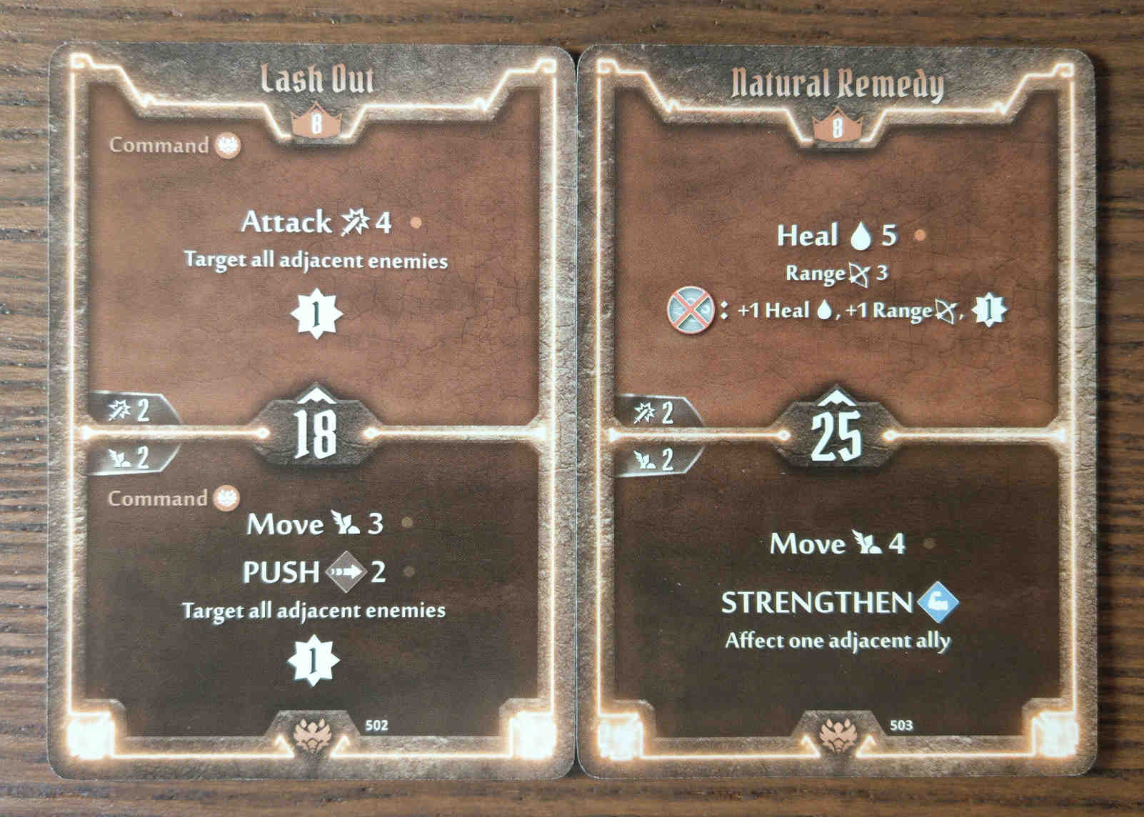 Beast Tyrant level 8 cards - Lash Out and Natural Remedy