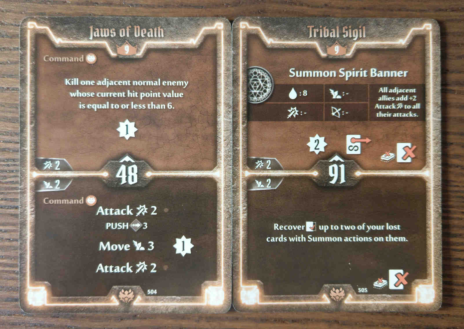 Beast Tyrant level 9 cards - Jaws of Death and Tribal Sigil