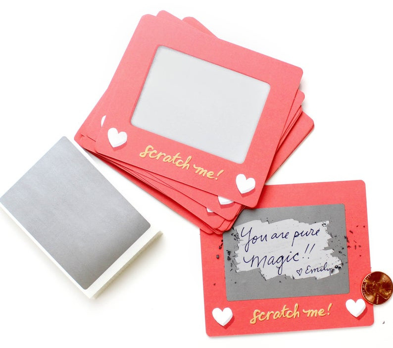 Scratch a sketch cards. Image credit: Inklings Paperie on Etsy.