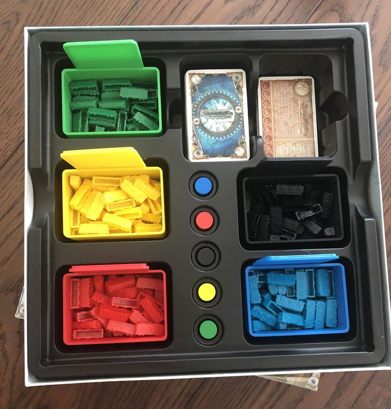 Ticket to Ride inserts. Image credit: KaCoPrints on Etsy.