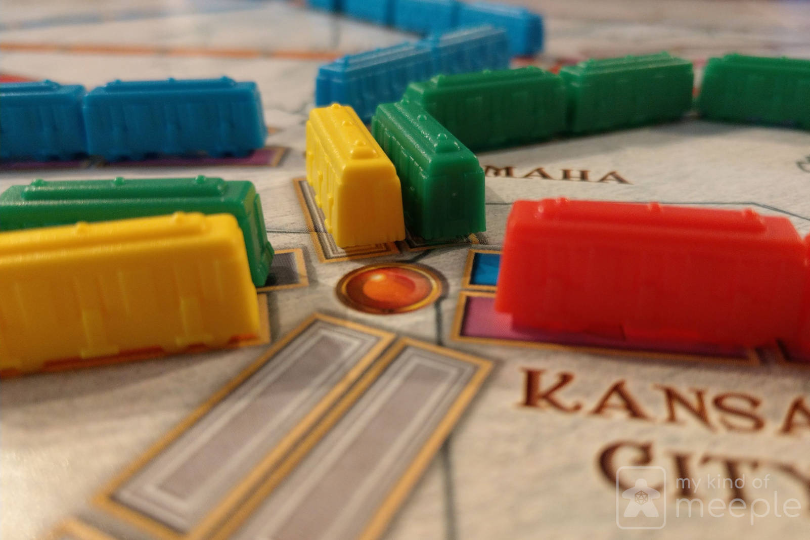 Ticket to Ride trains on board