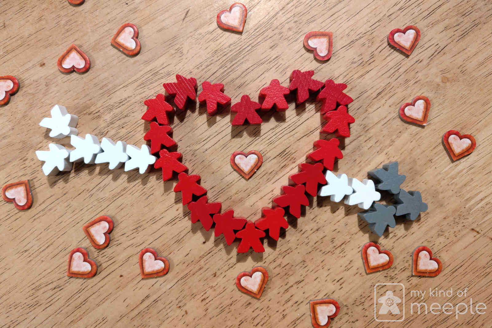 valentine's meeple heart board games