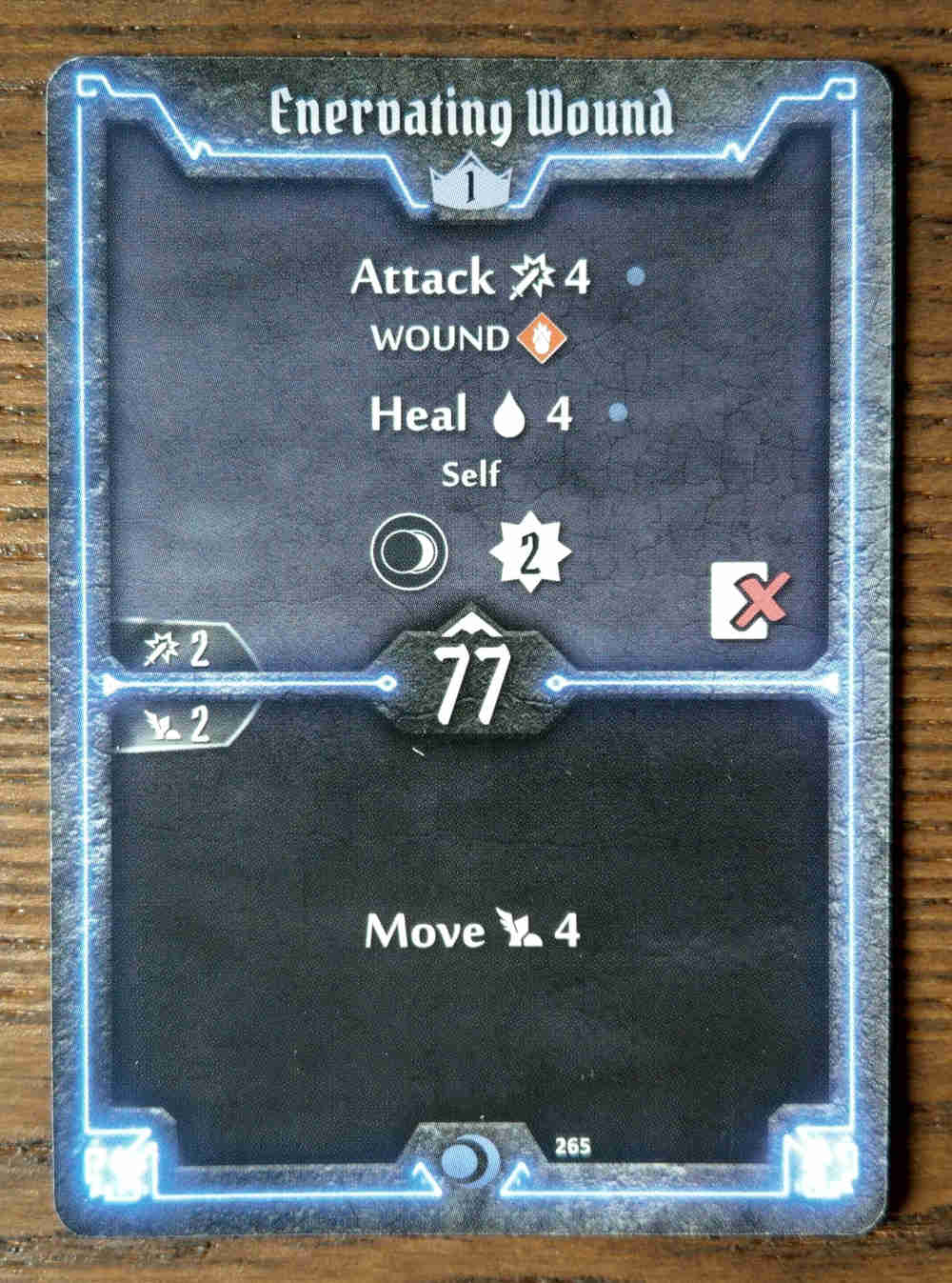 Level 1 Nightshroud card Enervating Wound