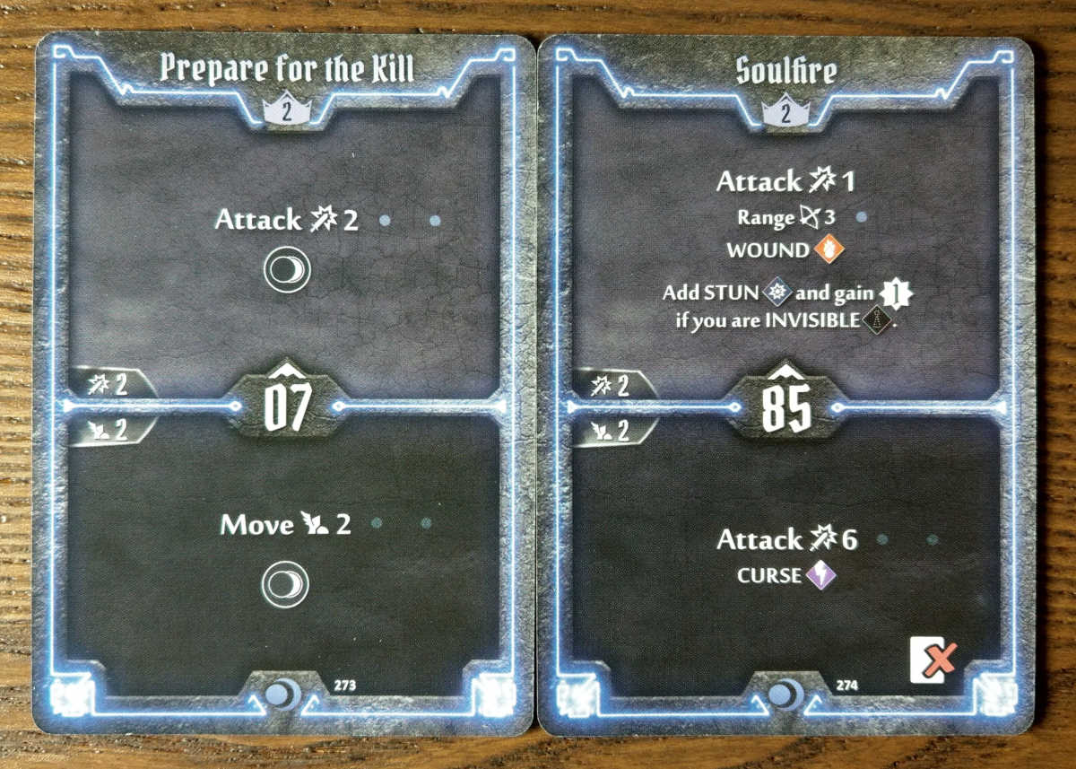 Level 2 Nightshroud cards - Prepare for the Kill and Soulfire
