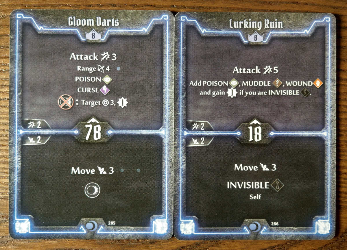 Level 8 Nightshroud cards - Gloom Darts and Lurking Ruin