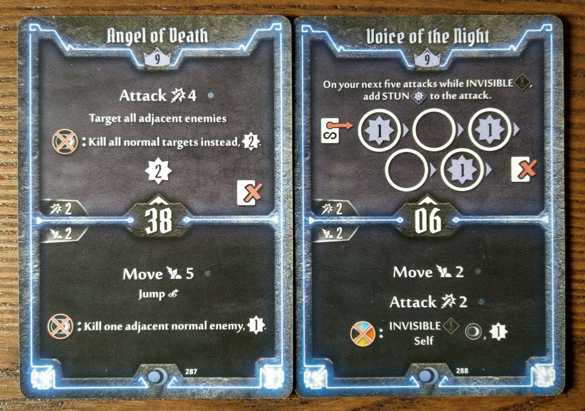 Level 9 Nightshroud cards - Angel of Death and Voice of the Night