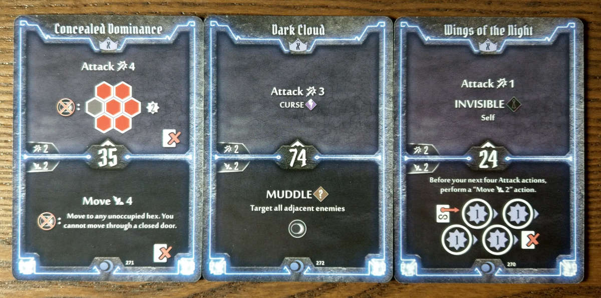 Nightshroud level X cards - Concealed Dominance, Dark Cloud and Wings of the Night