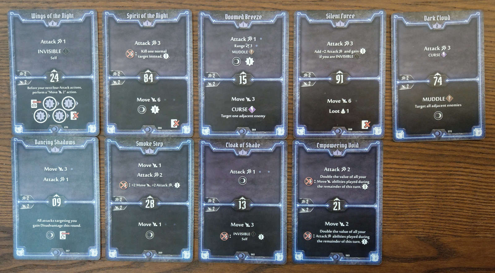 Nightshroud Level 1 build cards