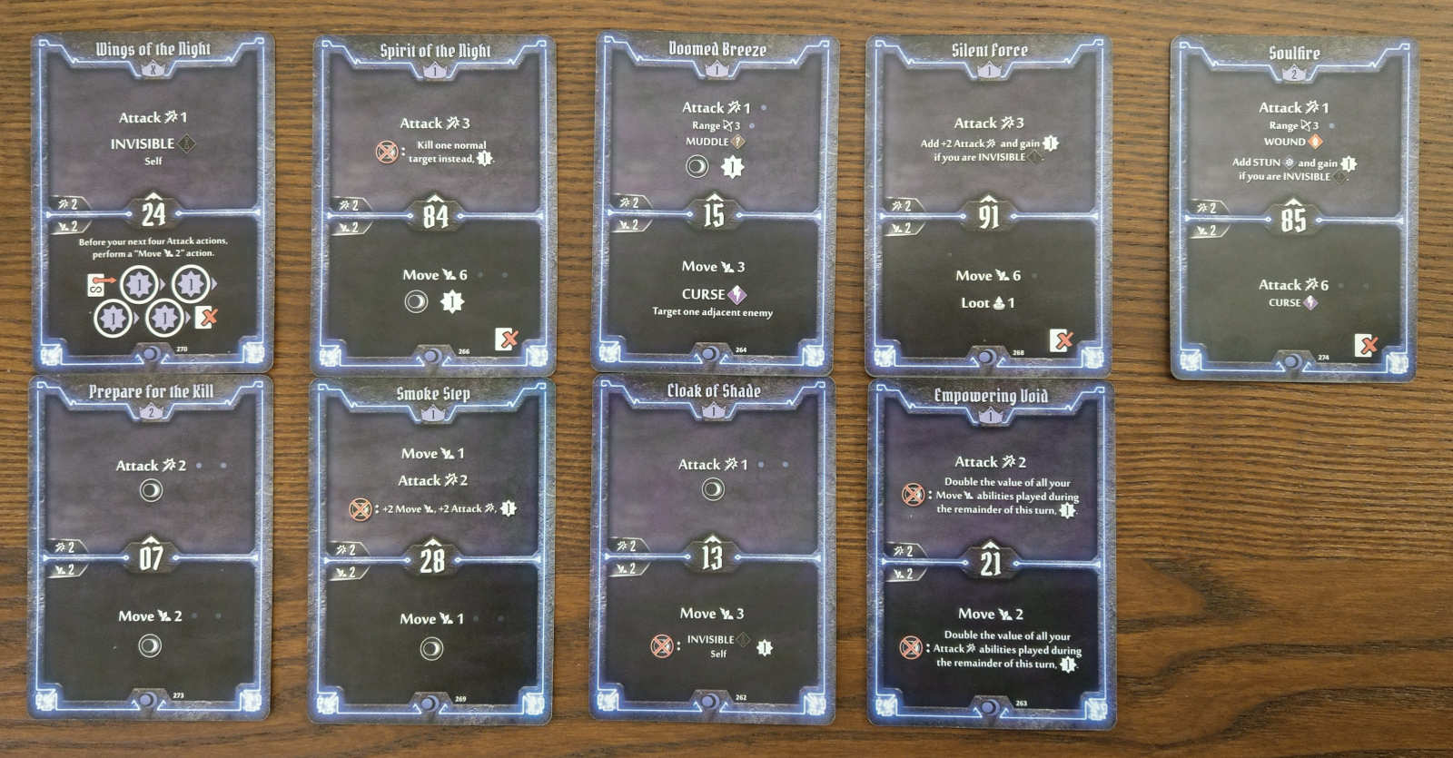 Level 3 Nightshroud build cards