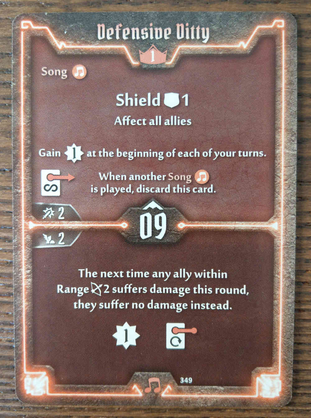 Level 1 Soothsinger card Defensive Ditty