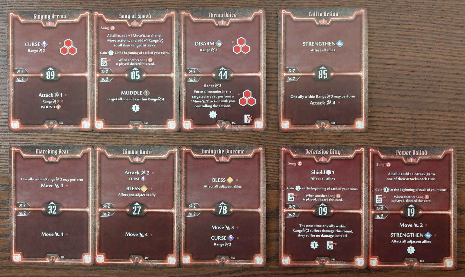 Soothsinger Level 1 build deck cards
