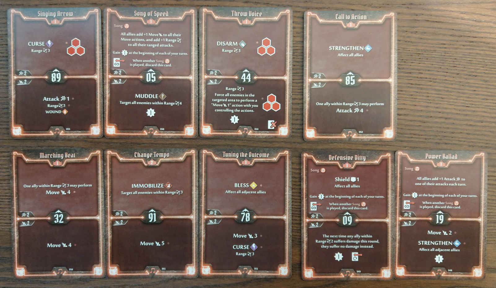 Soothsinger Level 2 build deck cards