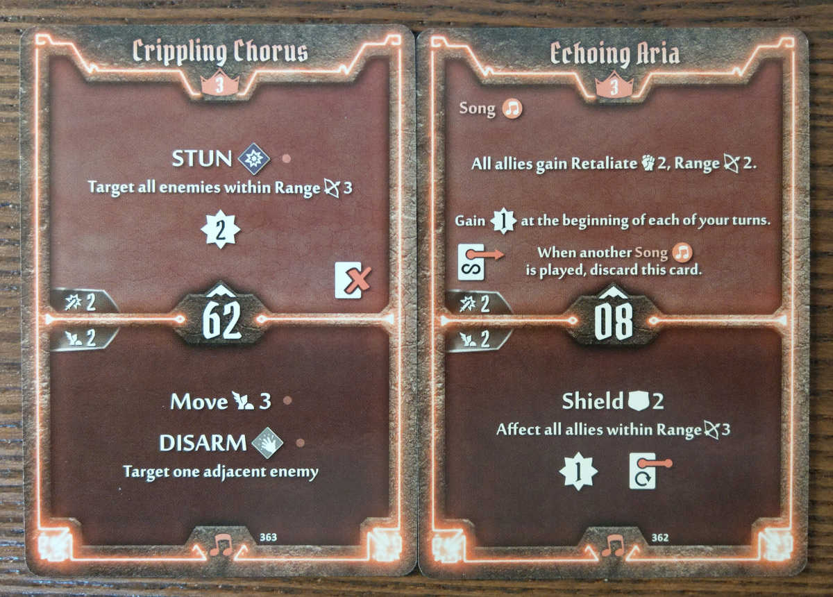 Level 3 Soothsinger cards - Crippling Chorus and Echoing Aria