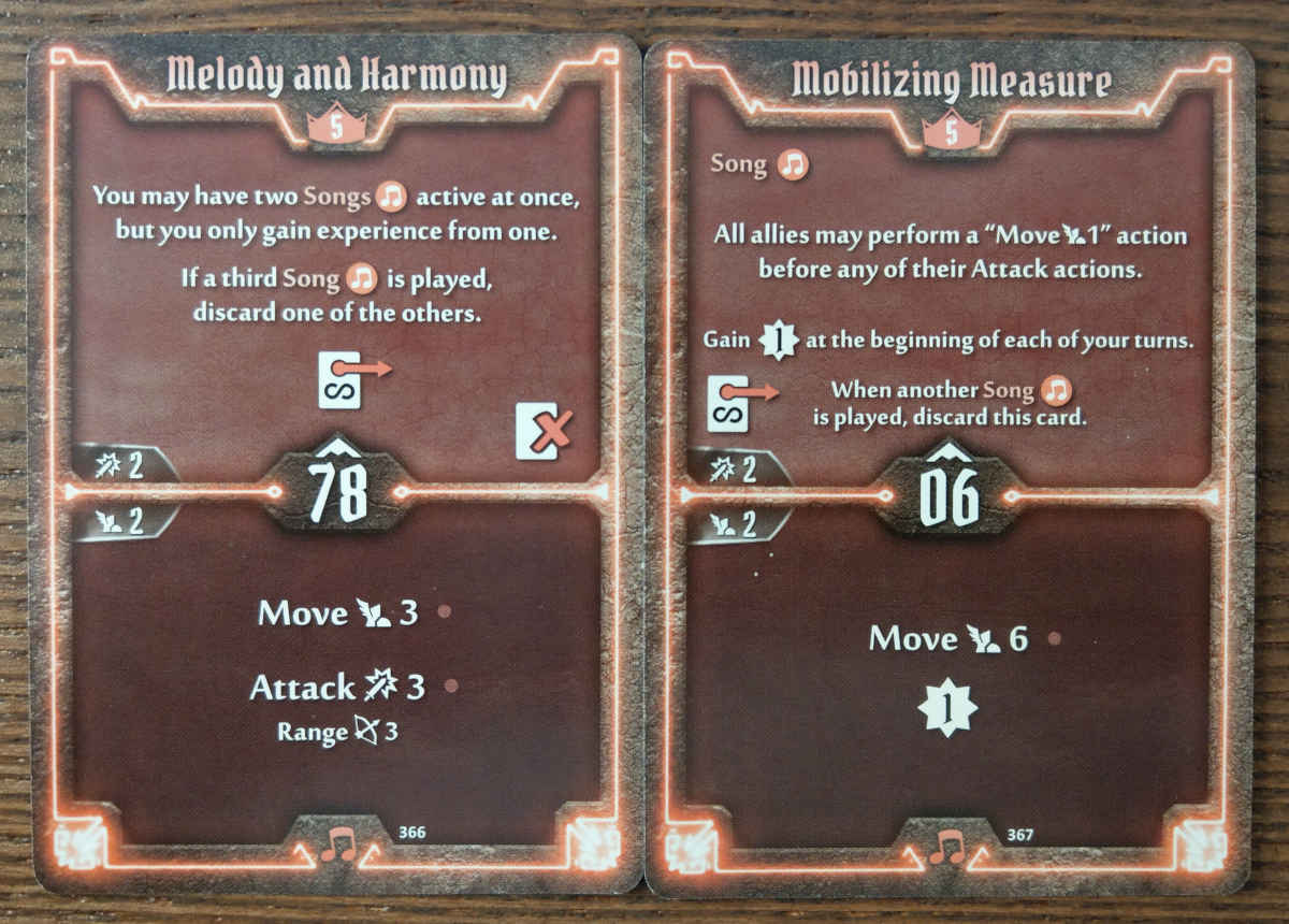 Level 5 Soothsinger cards - Melody and Harmony, and Mobilizing Measure