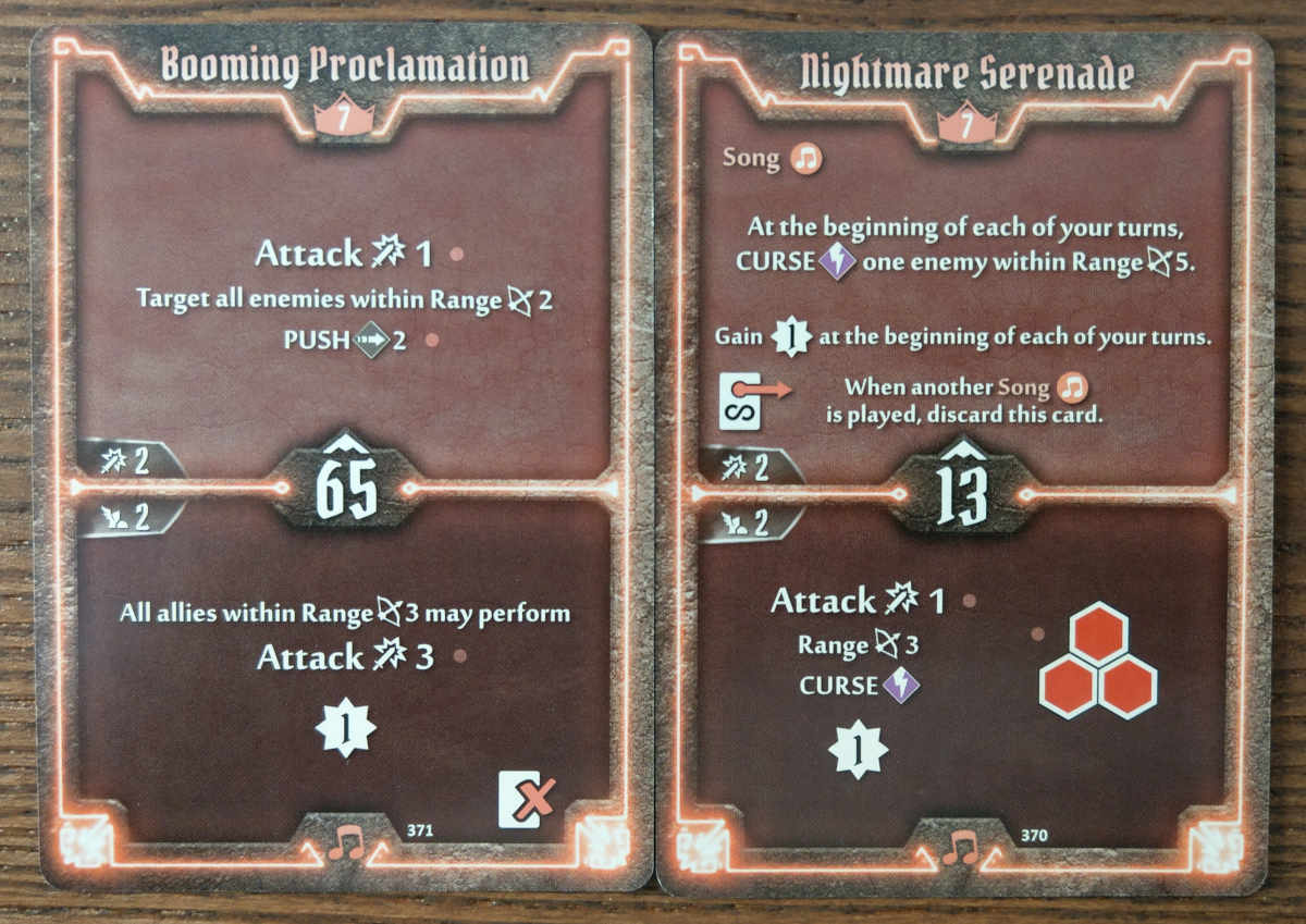 Level 7 Soothsinger cards - Booming Proclamation and Nightmare Serenade
