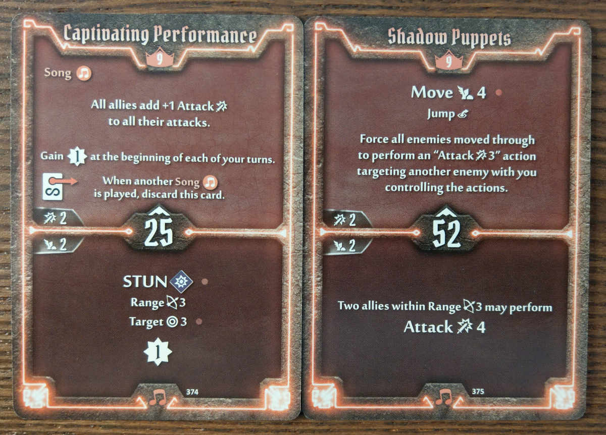 Level 9 Soothsinger cards - Captivating Performance and Shadow Puppets