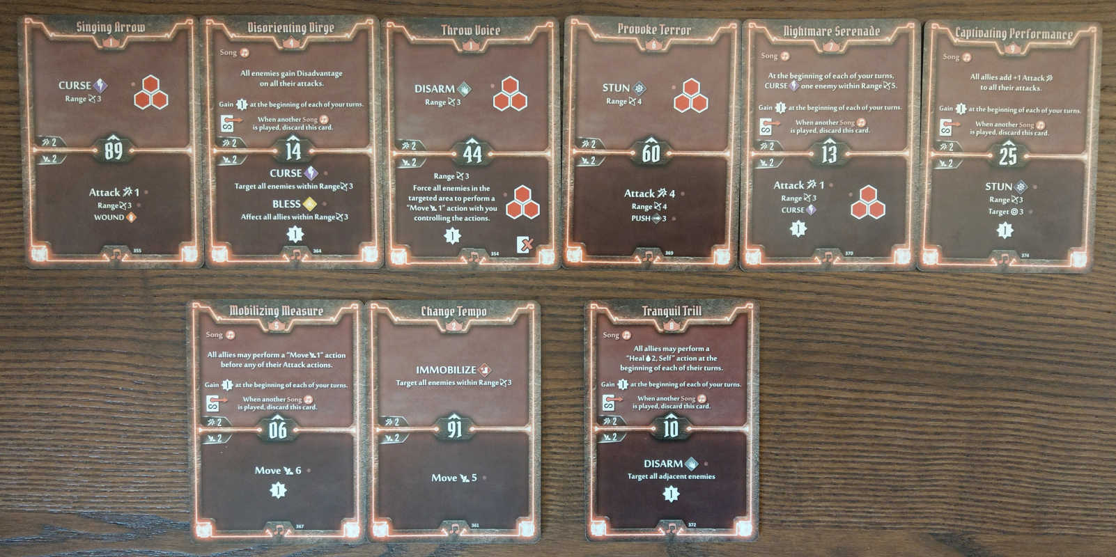 Soothsinger Level 9 build deck cards