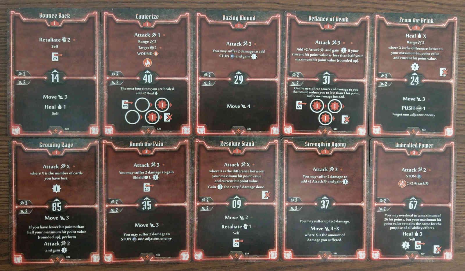 Level 1 Berserker build deck cards