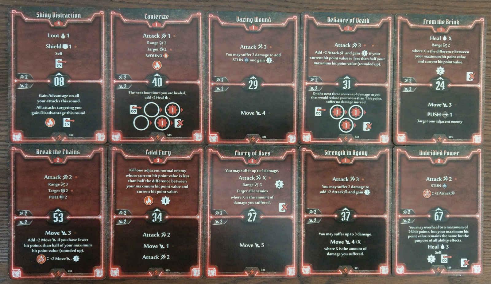 Level 5 Berserker deck cards