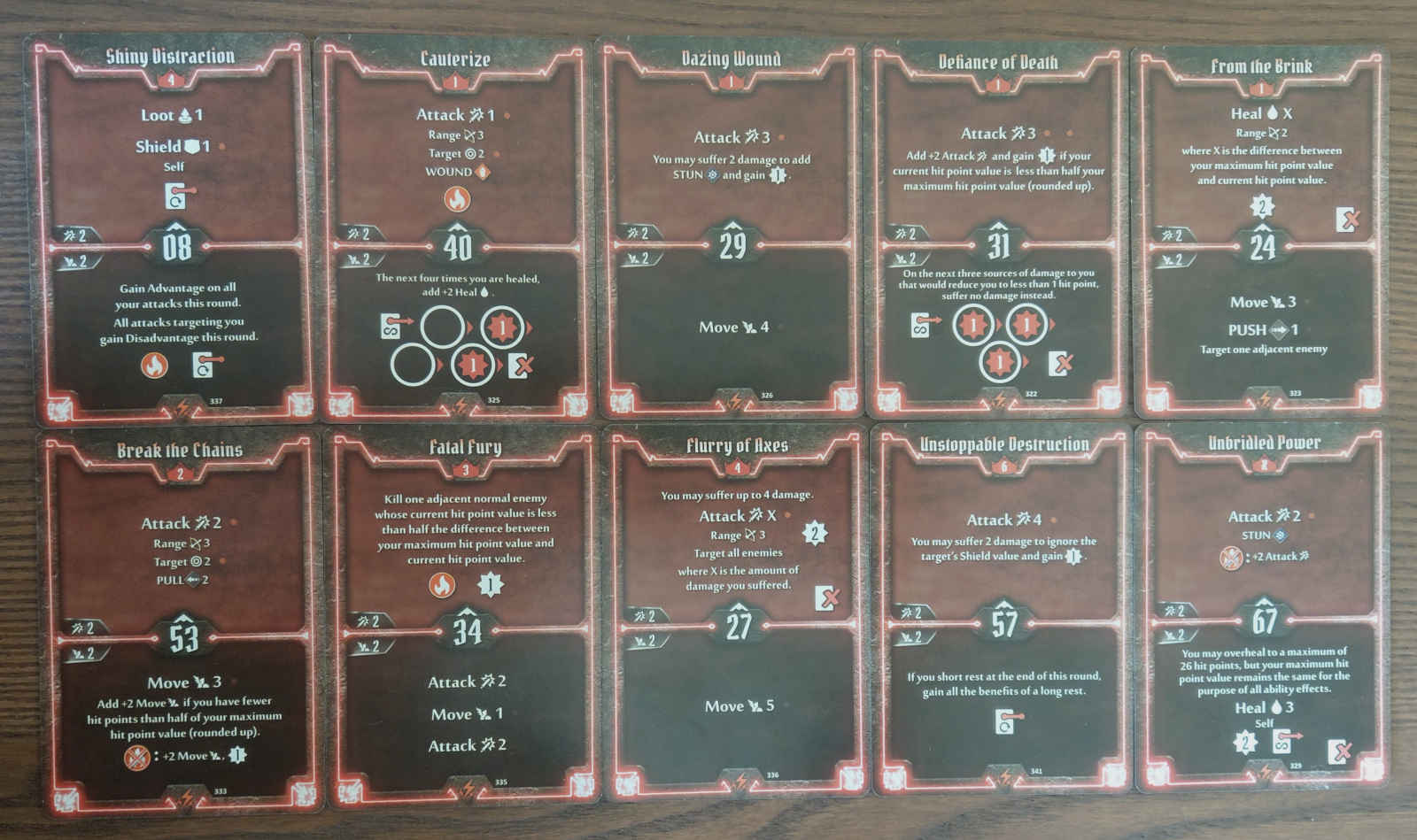Level 6 Berserker deck cards