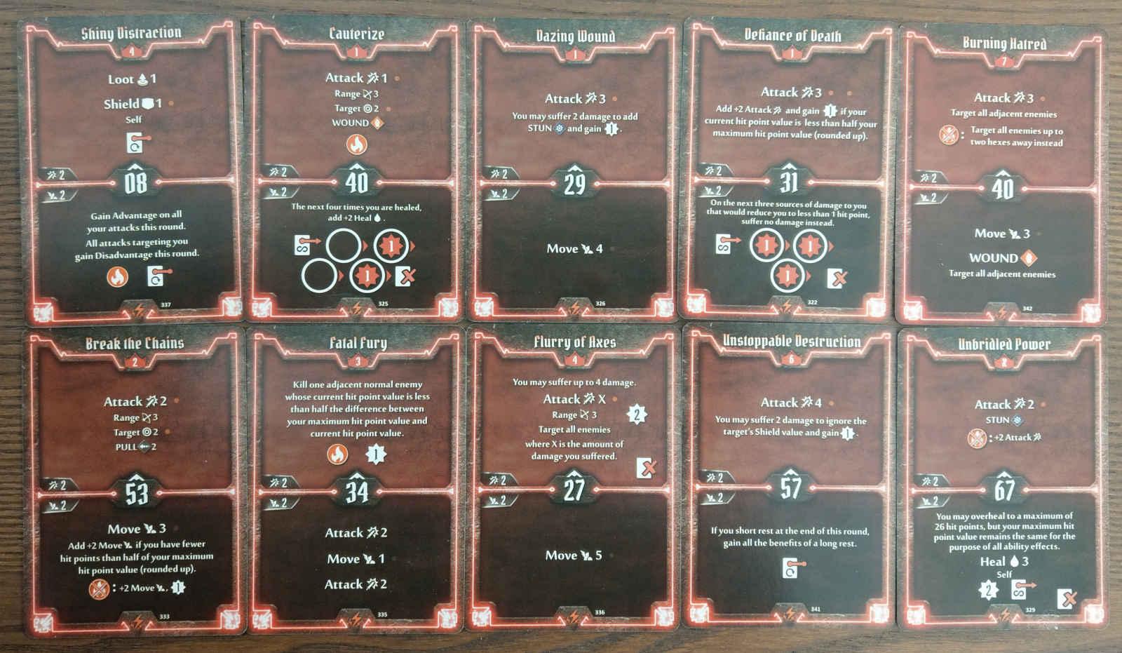 Berserker level 7 build deck cards