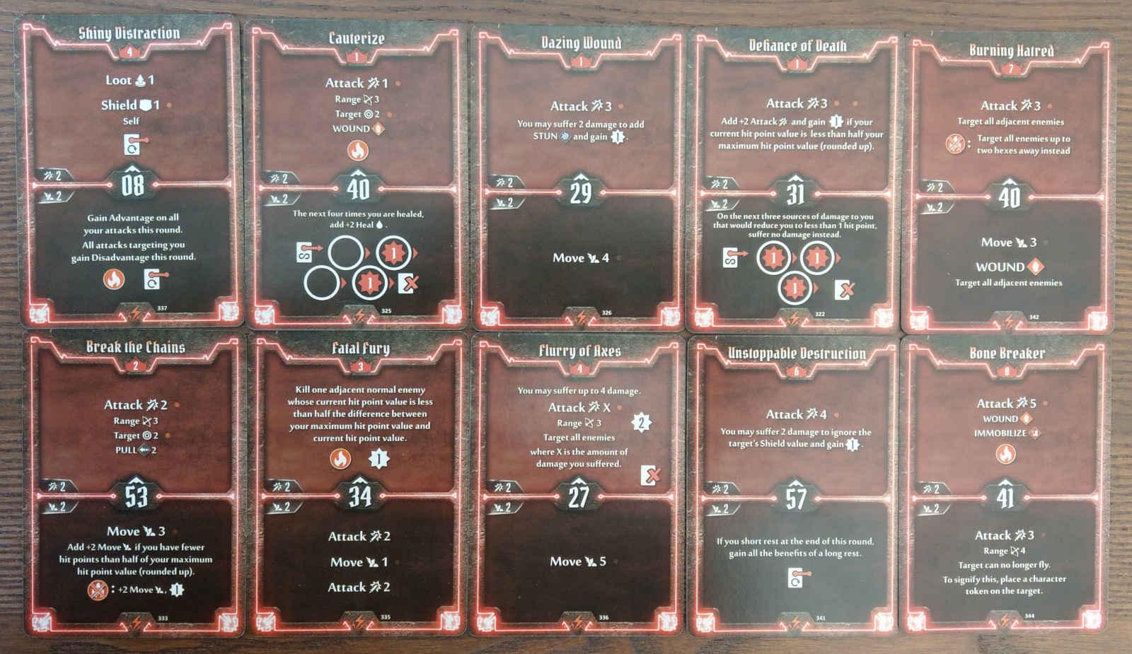 Berserker level 8 build deck cards