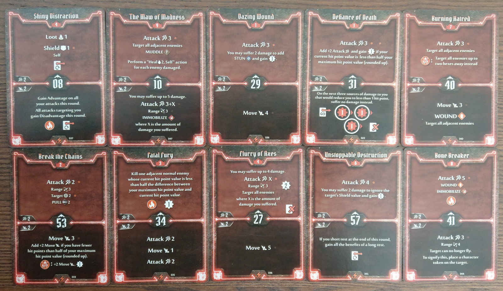 Berserker level 9 build deck cards