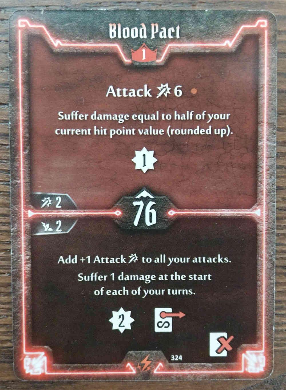 Level 1 Berserker card Blood Pact