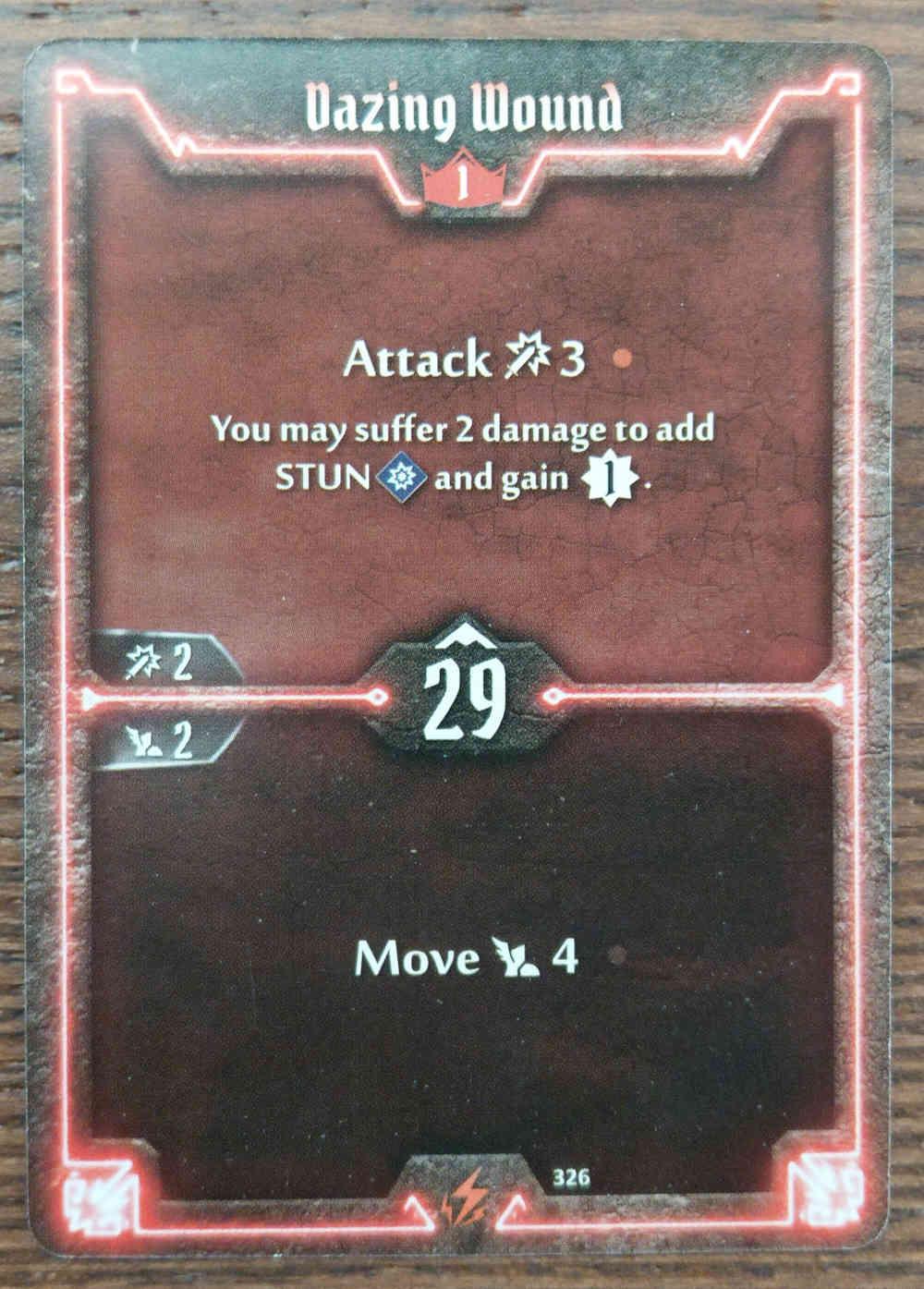 Level 1 Berserker card Dazing Wound