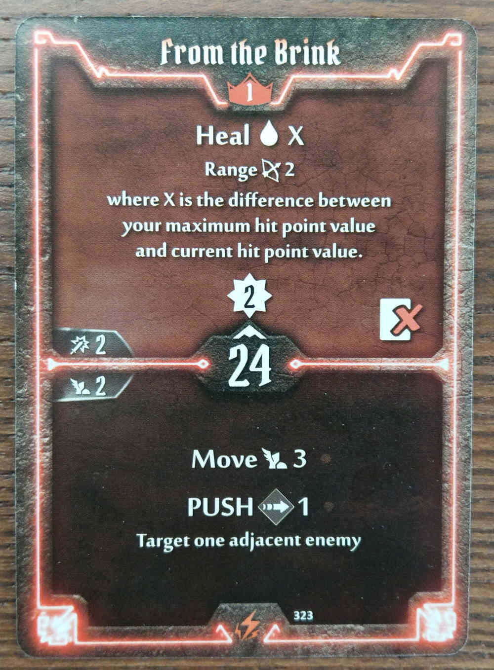 Level 1 Berserker card From the Brink